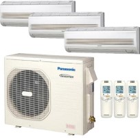 CU4KE24NBU CSMKE7NKU (two) CSMKE12NKU Panasonic 26900 BTU Heat Pump Wall Mount Tri Zone System