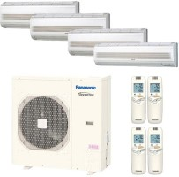 CU4KS31NBU CSMKS9NKU (TWO) CSMKS12NKU CSMKS18NKU Panasonic 47400 BTU Cool Only Wall Mount Quad Zone System