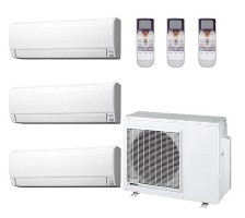 Fujitsu AOU36RLXFZ1 ASU12RLF1 (THREE) Fujitsu 36000 Heat Pump Wall Mounted Ductless Tri Zone System