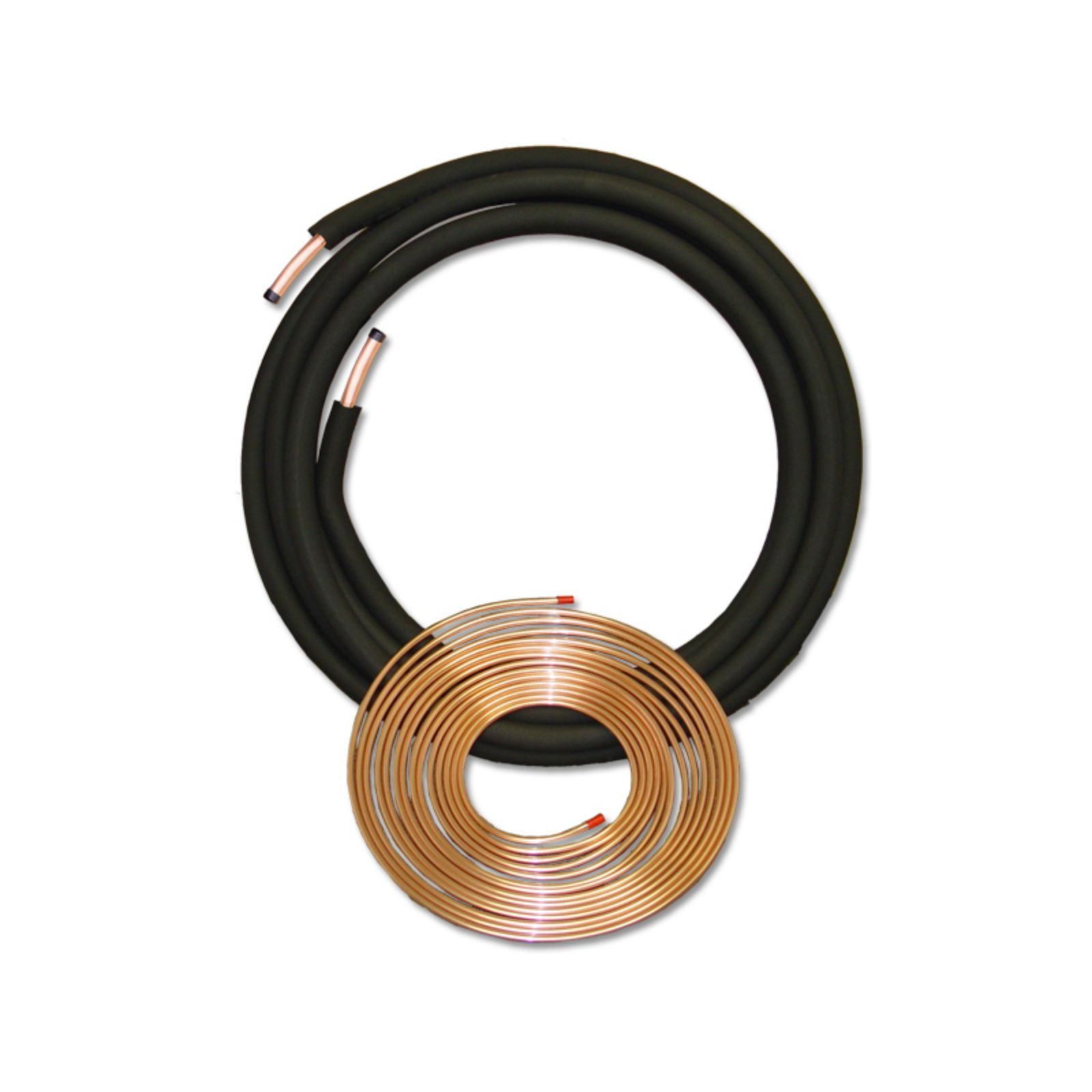 "JMF 061008500 -  Plain End Line Set with Straight End Suction Line, 3/8"" X 5/8"" X 1/2"" X 50'"