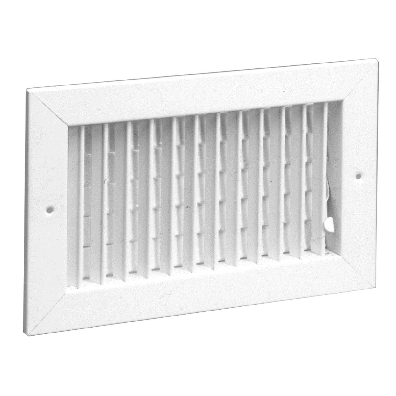 "Hart & Cooley 075001 - Steel Supply Register, Multi-Shutter Damper, White Finish, 6"" X 6"""