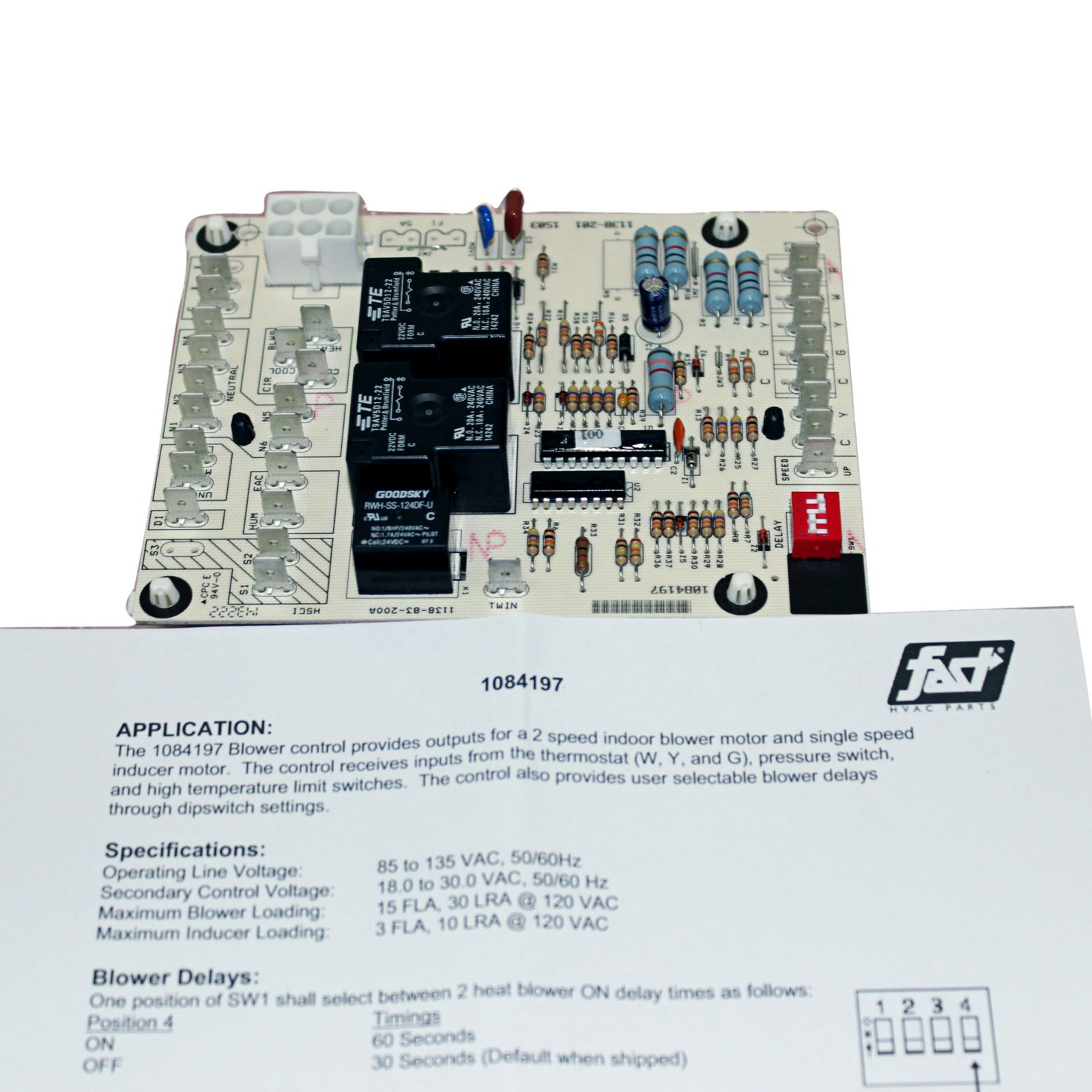 ICP 1084197 - Fan Timer Control Board