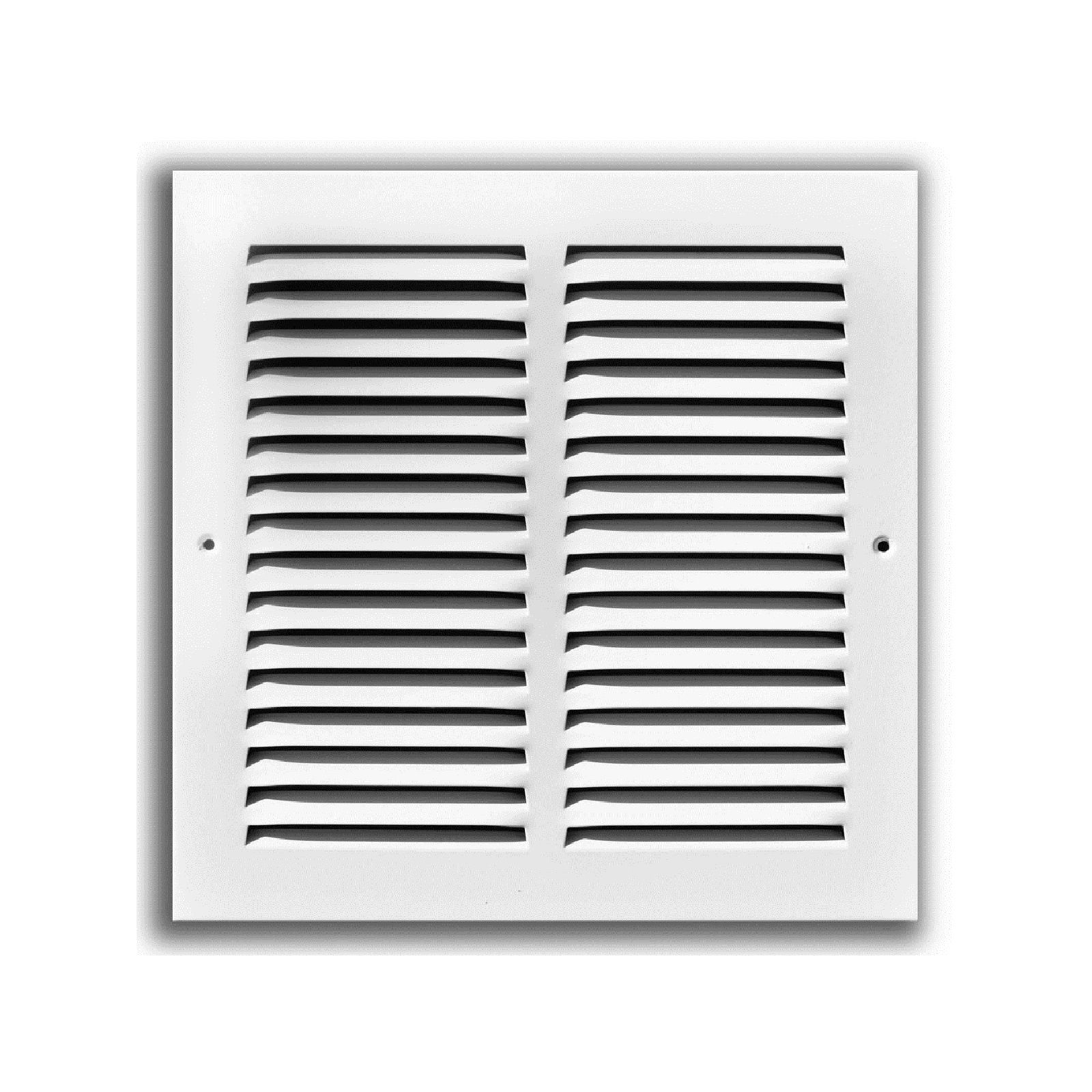 "TRUaire 170 10X10 - Steel Return Air Grille - 1/2"" Spaced Fin, White, 10"" X 10"""