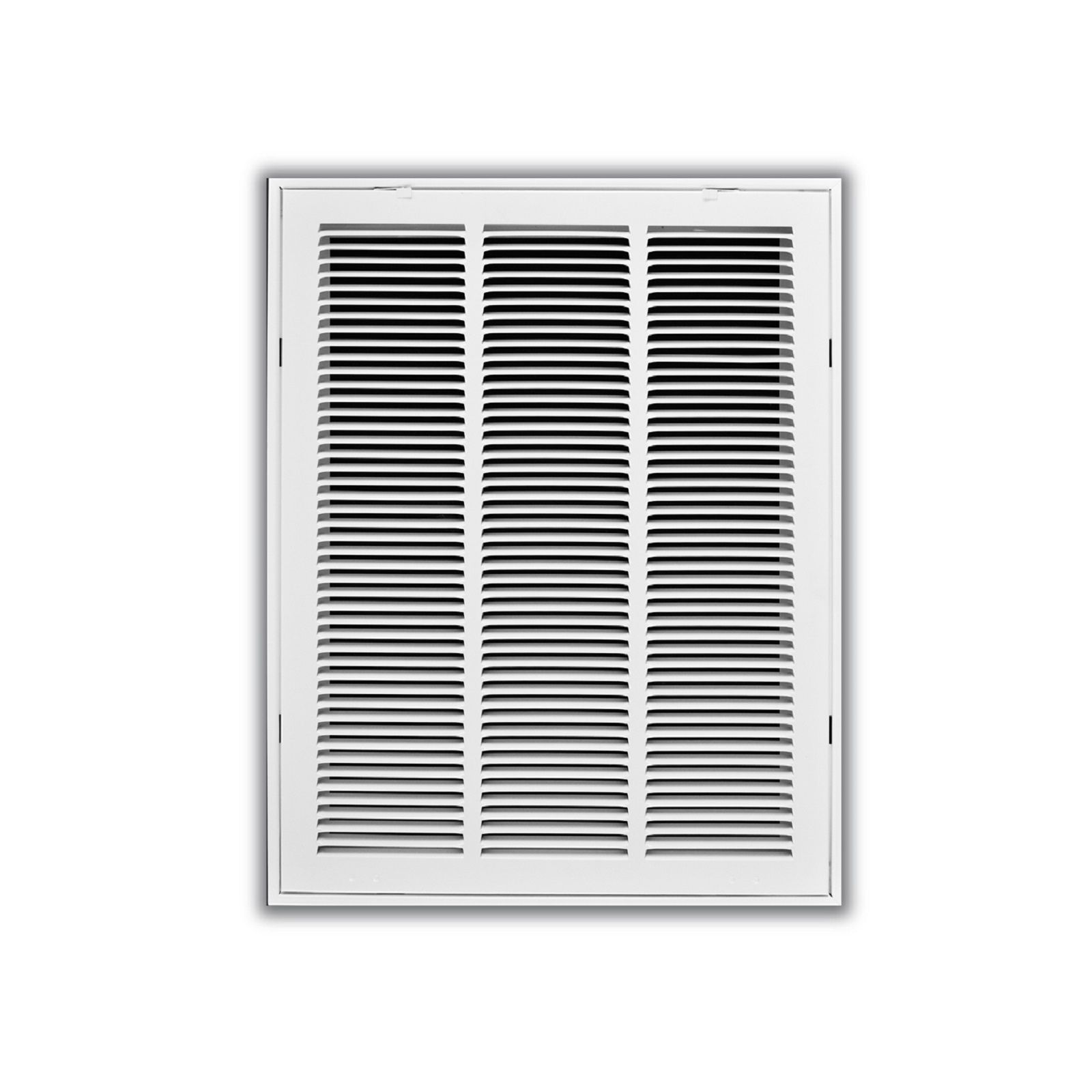 "TRUaire 190 24X24 - Steel Return Air Filter Grille With Fixed Hinged Face, White, 24"" X 24"""