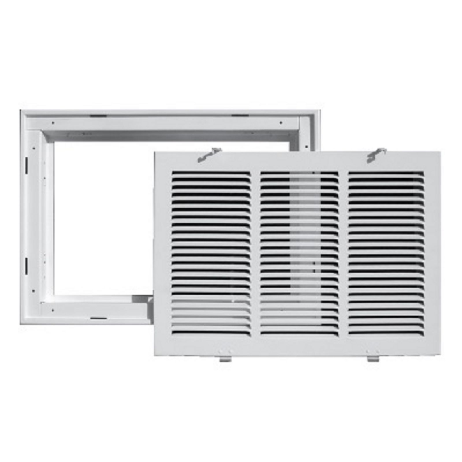 "TRUaire 190RF 24X10 - Steel Return Air Filter Grille With Removable Face, White, 24"" X 10"""