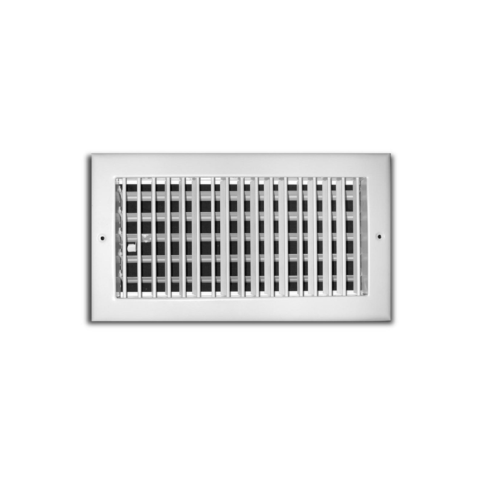 "TRUaire 210VM 20X04 - Steel Adjustable 1-Way Wall/Ceiling Register With Multi Shutter Damper, White, 20"" X 04"""