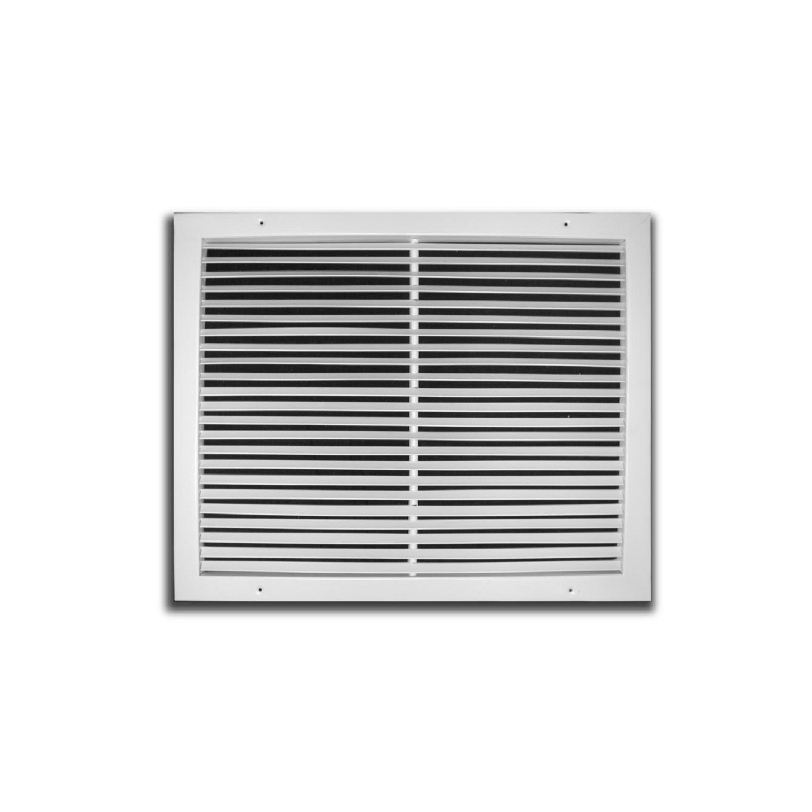 "TRUaire 270 24X10 - Steel Fixed Bar Return Air Grille, White, 24"" X 10"""