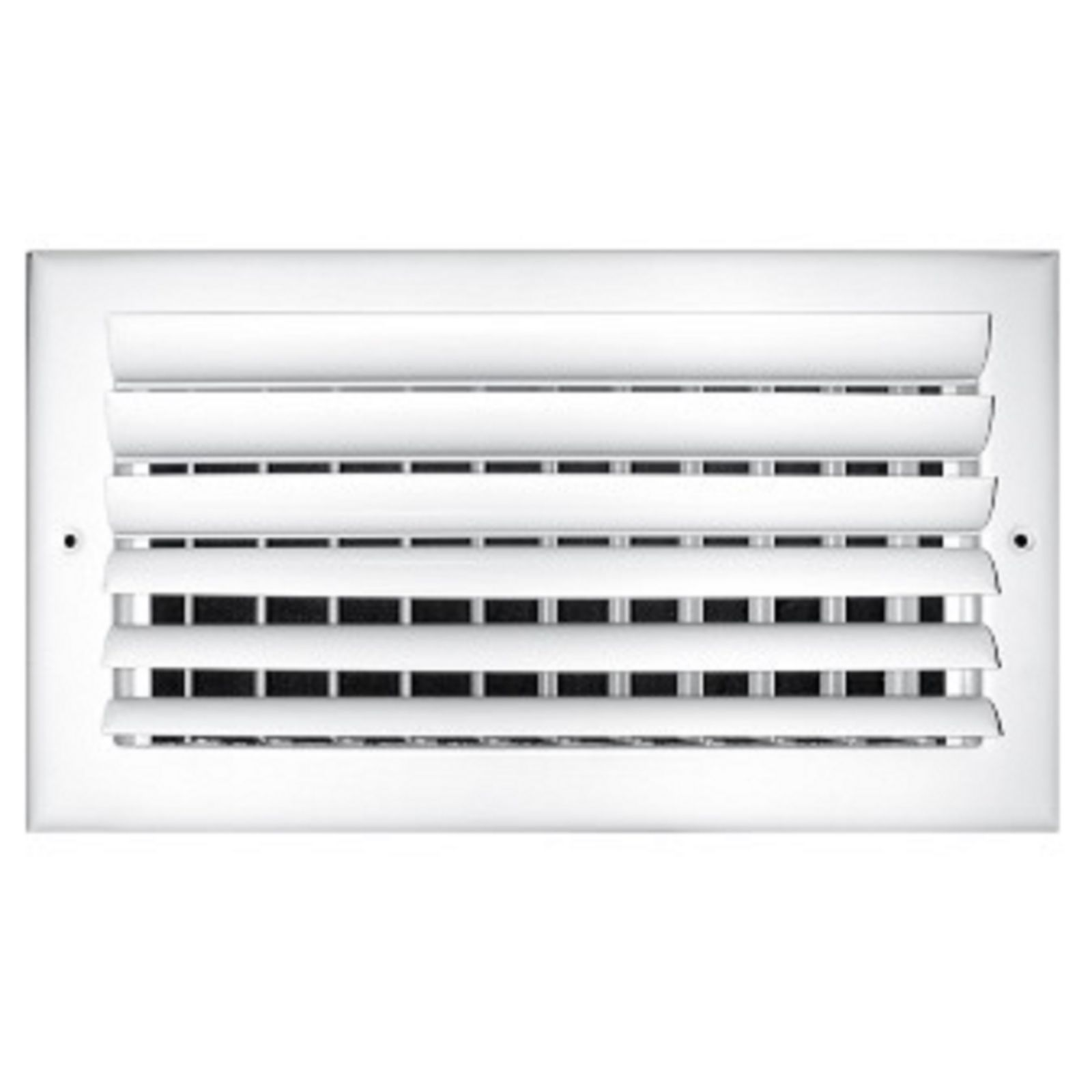 "TRUaire 302M 14X06 - Steel Adjustable Curved Blade Wall/Ceiling Register With Multi Shutter Damper, 2-Way, White, 14"" X 06"""