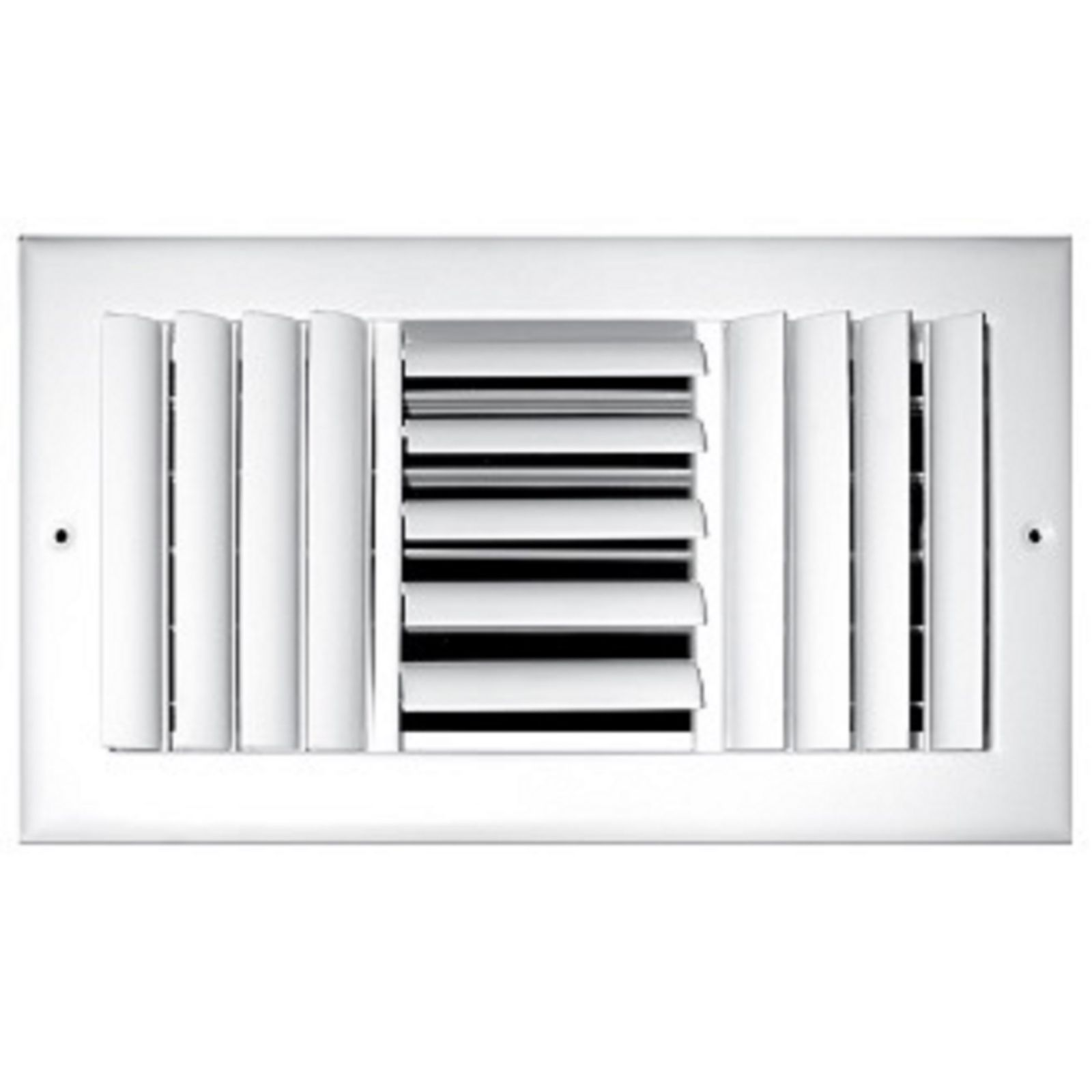 "TRUaire 303M 10X04 - Steel Adjustable Curved Blade Wall/Ceiling Register With Multi Shutter Damper, 3-Way, White, 10"" X 04"""