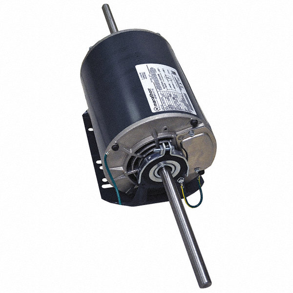 MARATHON MOTORS 3/4 HP Direct Drive Blower Motor, Permanent Split Capacitor, 1075 Nameplate RPM, 208-230 Voltage