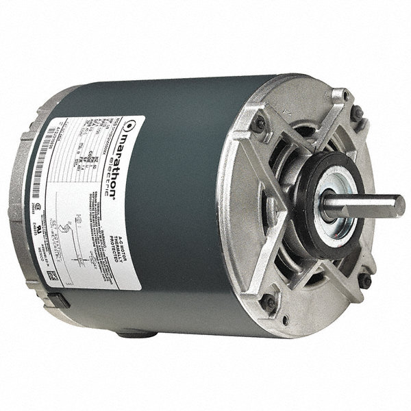 MARATHON MOTORS 1/1MARATHON MOTORS 2 HP Direct Drive Blower Motor, Split-Phase, 1725 Nameplate RPM, 115 Voltage, Frame 48Y