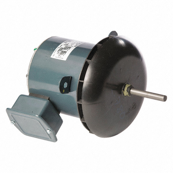 GENTEQ 1/2 HP Condenser Fan Motor, Permanent Split Capacitor, 1140 Nameplate RPM, 200-230/460 Voltage