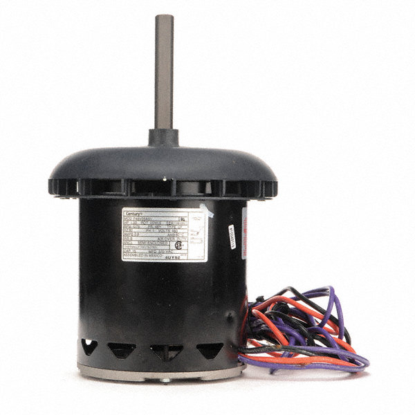 CENTURY 1 HP Condenser Fan Motor, Permanent Split Capacitor, 1075 Nameplate RPM, 460 VoltageFrame 48Y