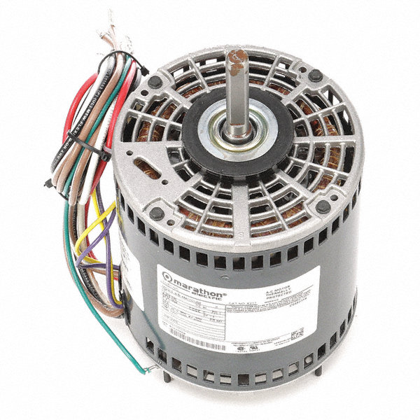 MARATHON MOTORS 1 HP Direct Drive Motor, Permanent Split Capacitor, 1625 Nameplate RPM, 208-230 VoltageFrame 48Y