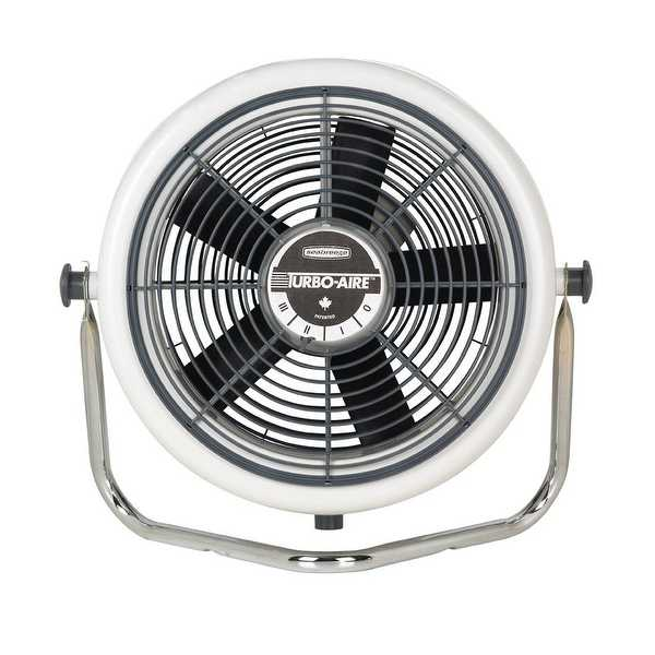 Seabreeze 3200-OM Aerodynamic High Velocity Cooling Fan, 12', 3 Speed, Gray