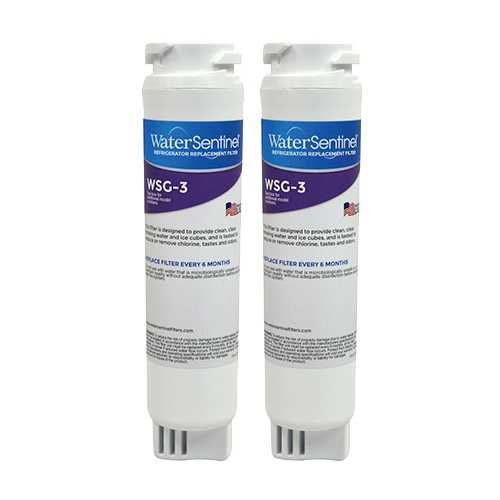Replacement Water Filter Cartridge for Water Sentinel MSWforWSG-3(2-Pack)