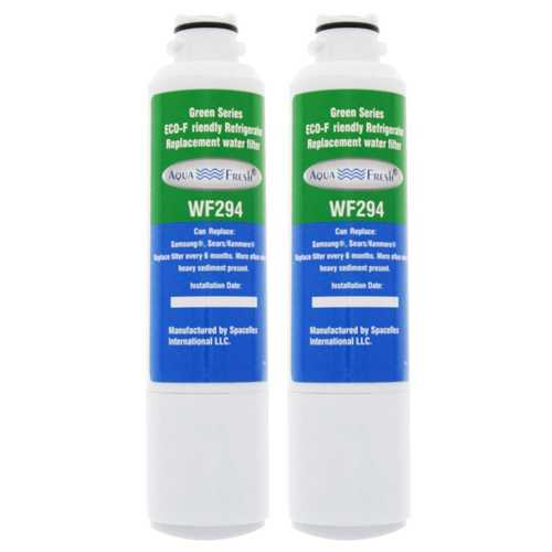 AquaFresh Replacement Water Filter for Samsung RS261MDBP Refrigerator Model (2 Pack)