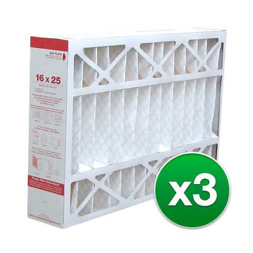Replacement Pleated Air Filter for For Honeywell FC200E1029 Furnace 16x25x4 MERV 11 (3 Pack)