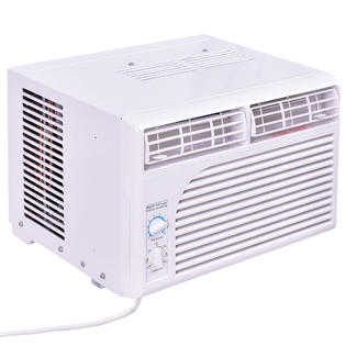 Costway 5000 BTU White Compact 115V Window-Mounted Air Conditioner w/ Mechanical Control