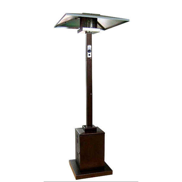Hiland 89' Commercial Hammered Gold Patio Heater with Hidden Wheels