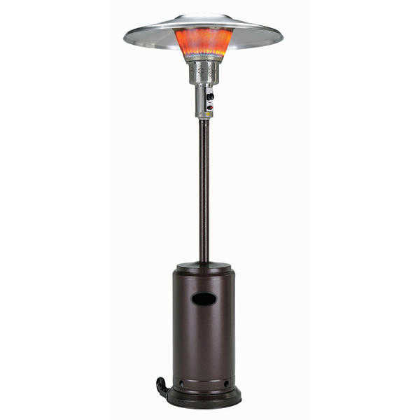 Hiland Tall Hammered Bronze Commercial Patio Heater from Burny
