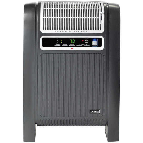 Lasko 760000 Cyclonic Ceramic Heater with Fresh Air Ionizer and Remote Control
