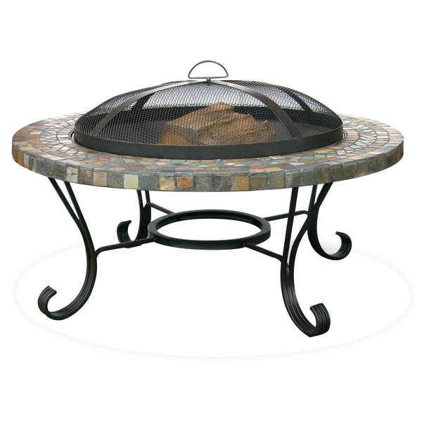 UniFlame Slate Tile / Copper Outdoor Firebowl