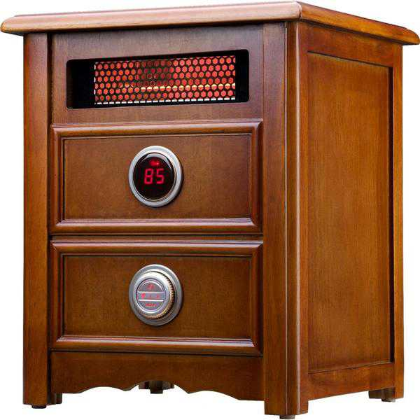 Dr Infrared Heater DR999 , 1500W, Advanced Dual Heating System with Nightstand Design, Furniture-Grade Cabinet, Remote Control