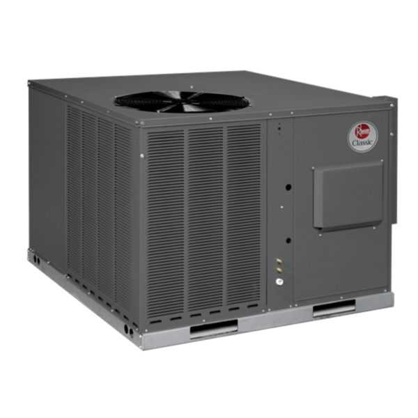 Rheem RGEA14036ADD061AA - Classic 3 Ton 14 SEER Packaged Gas/Electric Unit, Stainless Steel Heat Exchanger, 460/3/60