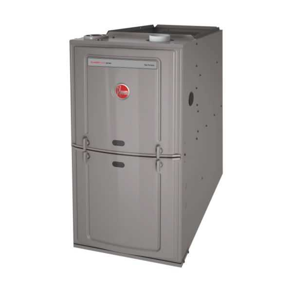 Rheem - R801TA075421MSA - Classic Plus 80% Gas Furnace, 1 Stage, 75K BTU Upflow/Horizontal, 2 1/2 to 4 Ton