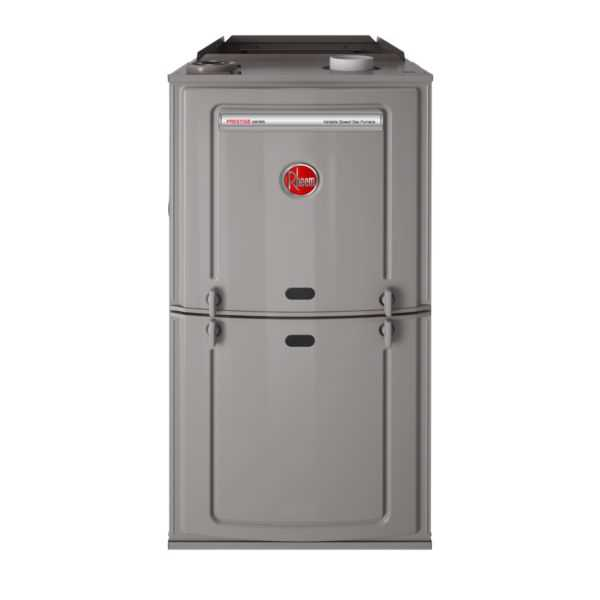 Rheem - R802VA050317MSA - Prestige 80% Gas Furnace, 2 Stage Variable Speed, 50K BTU, Upflow/Horizontal, ECM Motor