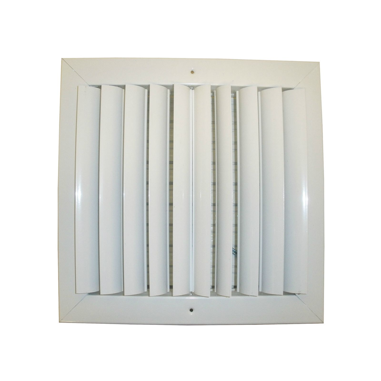 "Grille Tech CL2M0606 - Aluminum Ceiling 2-Way Deflection Supply, Multi-shutter 6"" X 6"" White"