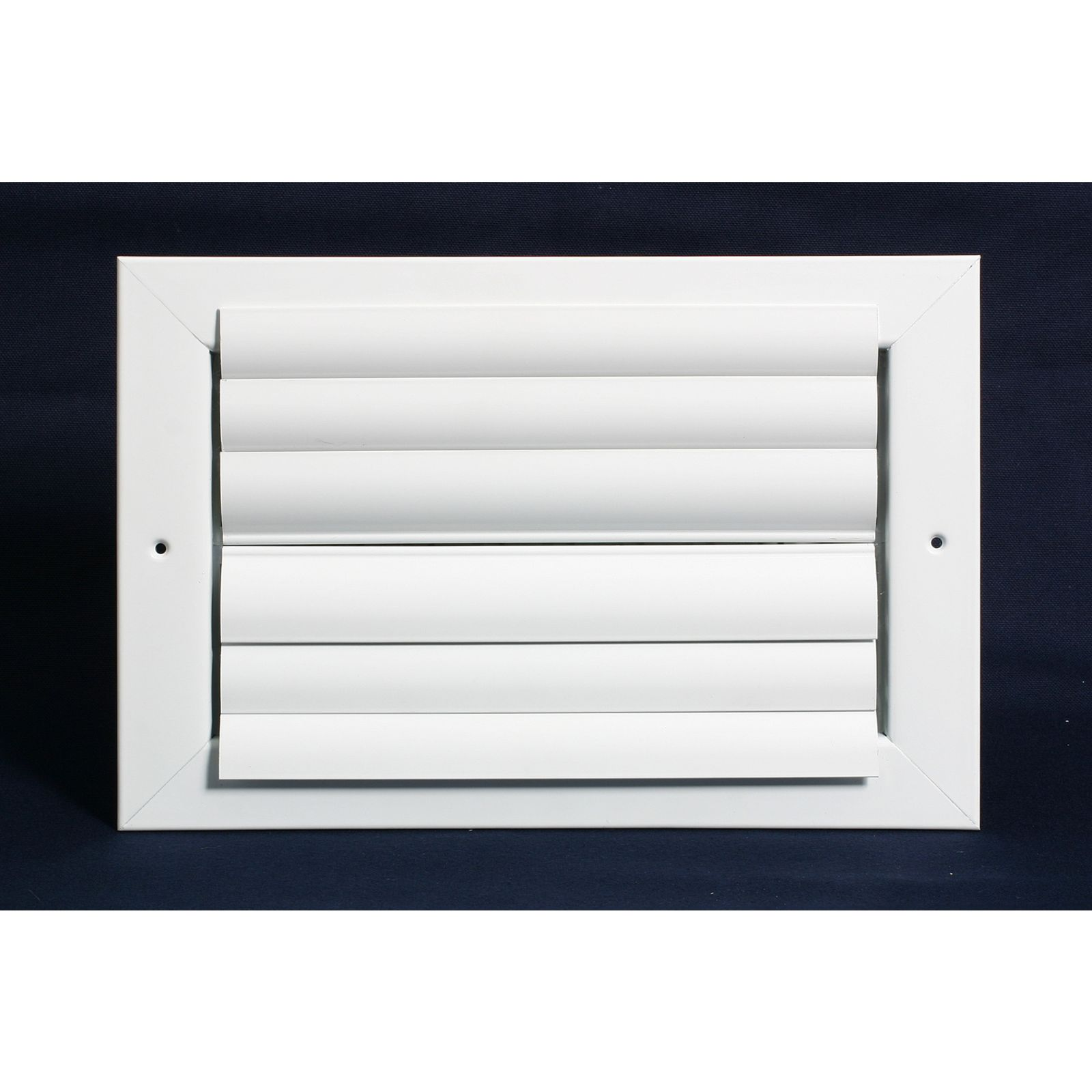 "Aluminum Ceiling 2-Way Deflection Supply, Multi-shutter 14"" X 10"" White"
