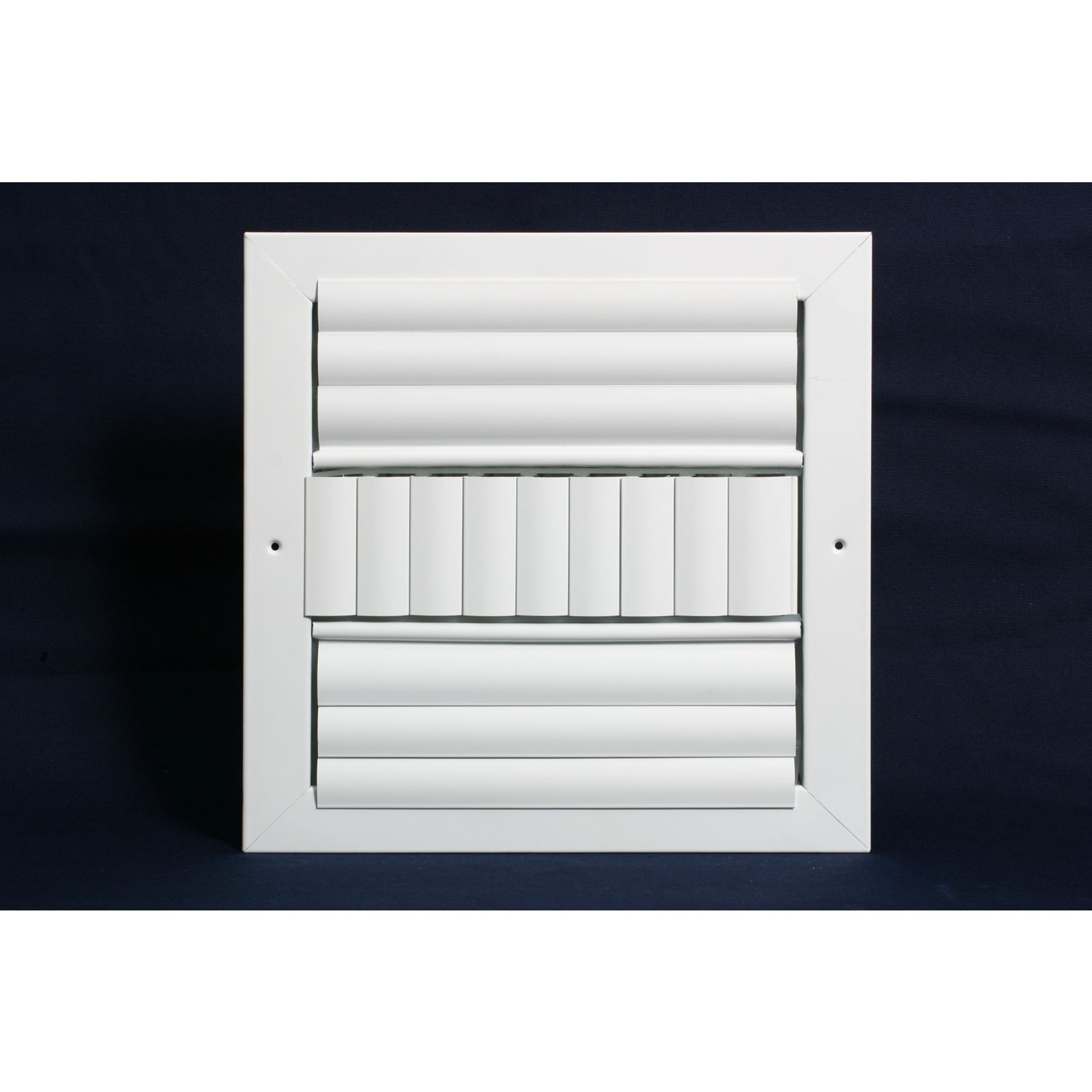 "Grille Tech CL3M1208 - Aluminum Ceiling 3Way Deflection Supply, Multi-shutter 12"" X 8"" White"