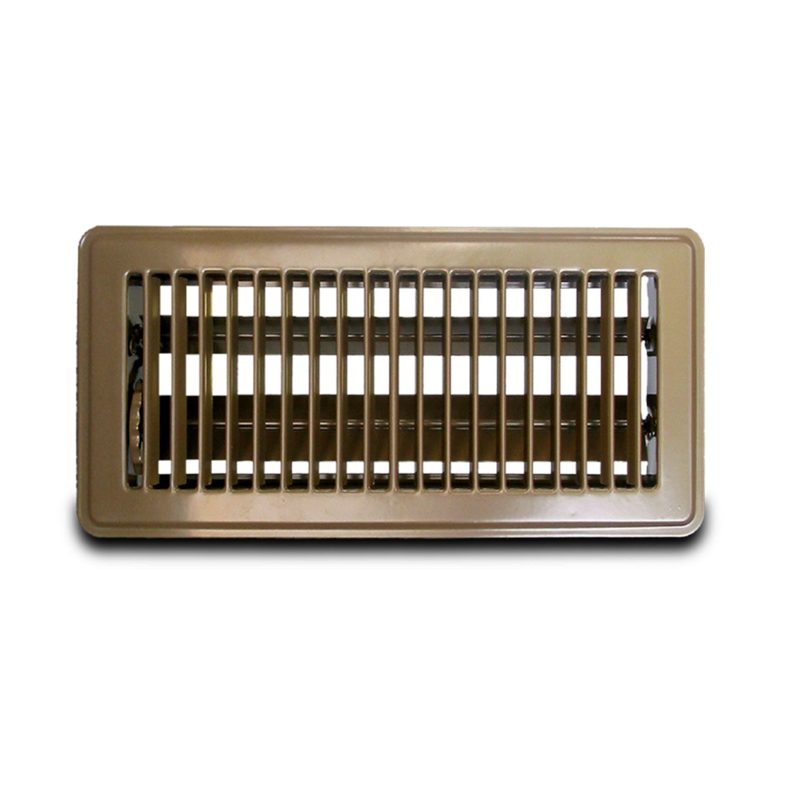 "Metal-Fab MFFR412B - Metal Fab Floor Register, Brown,  4"" X 12"""