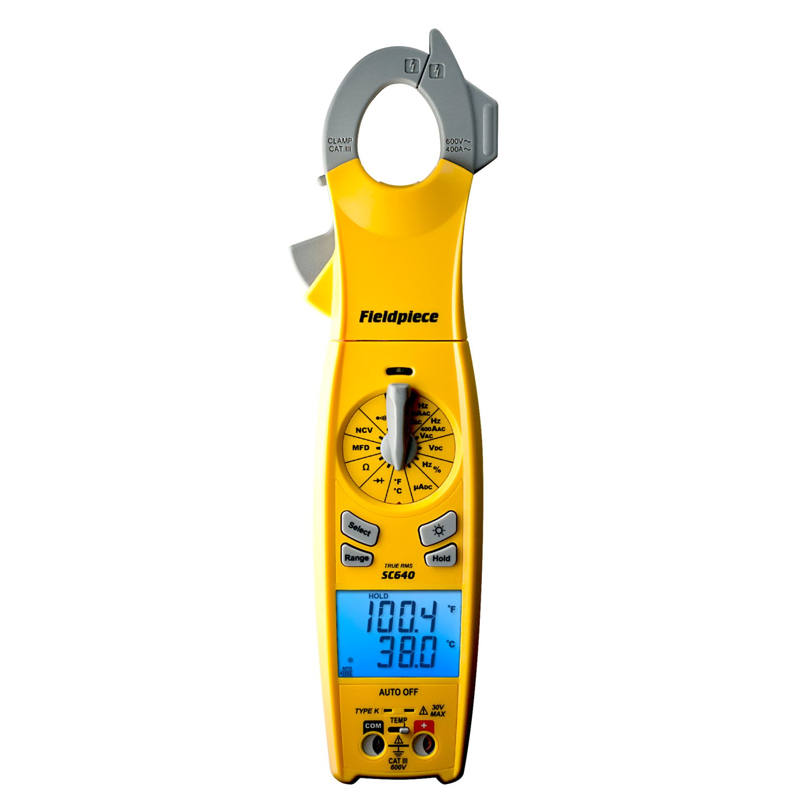 Fieldpiece SC640 - SC600 Series Loaded Clamp Meter with Swivel Head and True RMS